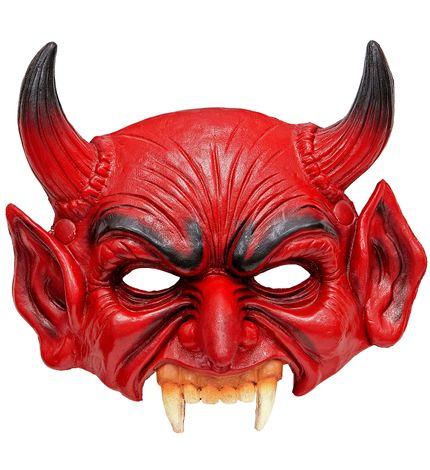 Kinnlose Teufelsmaske aus Schaumlatex – Bild 1