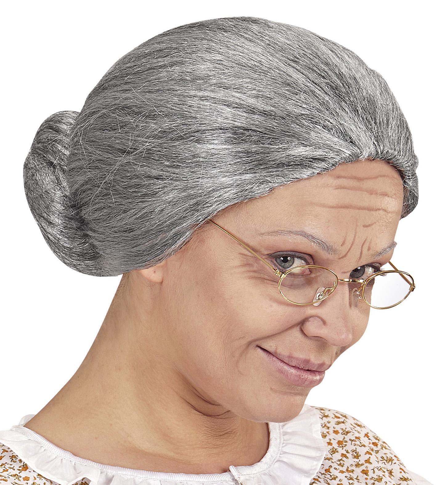 oma damen per cke grau meliert dutt greisin alte gro mutter omi m rchen haare knoten haarnetz. Black Bedroom Furniture Sets. Home Design Ideas