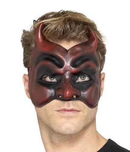 Kinnlose Teufelsmaske aus Latex – Bild 1