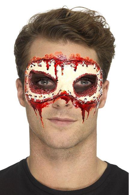 Prothesen Maske fehlendes Gesicht aus Schaumlatex mit Kleber – Bild 2