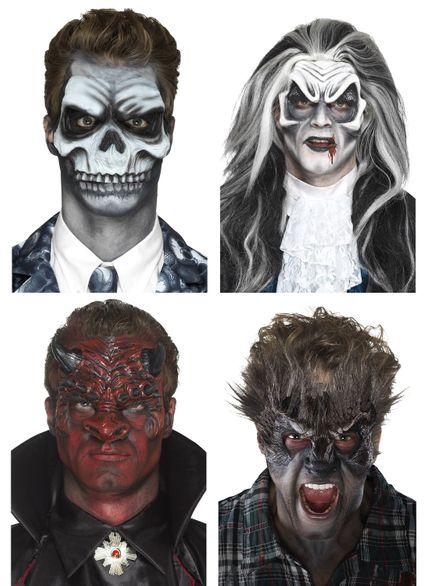 Prothesen Maske aus Schaumlatex mit Kleber verschiedene Ausführungen – Bild 1