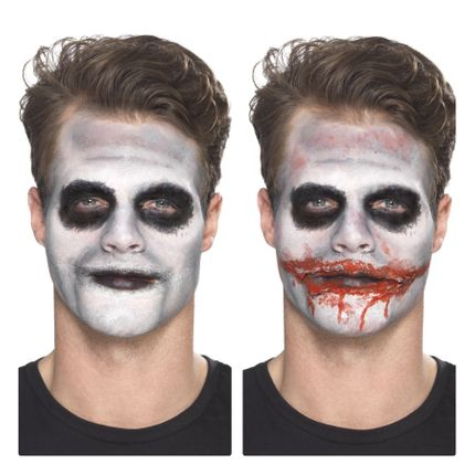 7-teiliges Schminkset Killer Clown Make-up für Halloween und Karneval – Bild 4