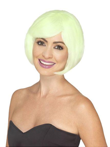 Fluoreszierende Damen Perücke Bob Pagenkopf – Bild 1
