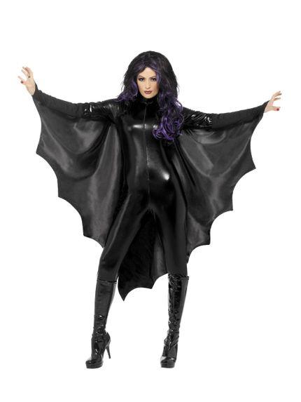 Vampir Fledermausflügel Umhang für Damen Halloween Kostüm – Bild 1