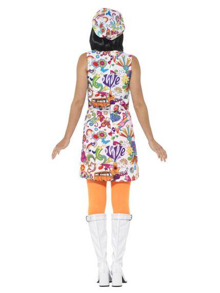 60's Groovy Damen Kleid mit Ballon-Kappe – Bild 4