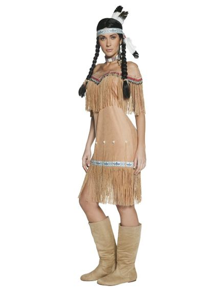 Indianerin Damen Kleid Indian Lady – Bild 2