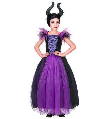 Mädchen Kostüm Maleficent Kleid und Kopfschmuck – Bild 1