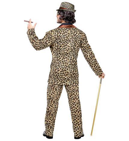 Funky Leopard Anzug Pimp Herren-Kostüm Sakko und Hose – Bild 2