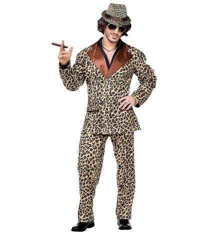 Funky Leopard Anzug Pimp Herren-Kostüm Sakko und Hose – Bild 3