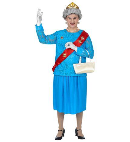 Lustiges GB Queen Kostüm für Herren – Bild 1