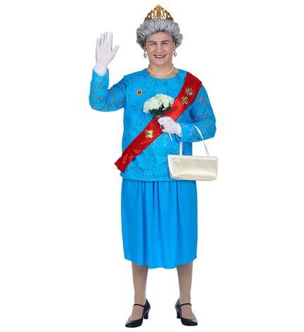 Lustiges GB Queen Kostüm für Herren – Bild 4