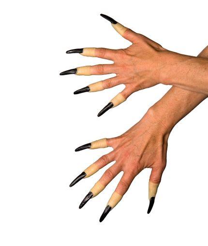 10 Fingernägel Schwarz zum Aufstecken