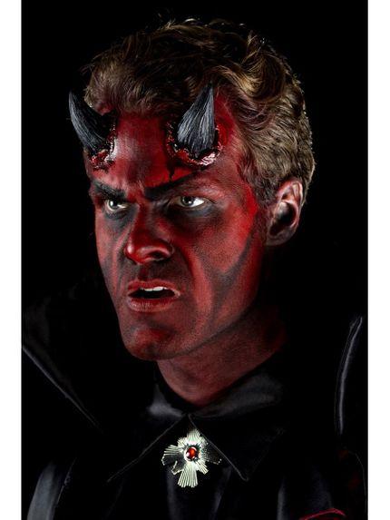 Latex Hörner Teufel Satan Dämon mit Kleber – Bild 2