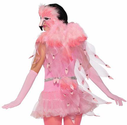 Rosa Flügel für Flamingo Kostüm