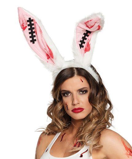 Halloween Haarreif Bloody Bunny blutige Hasenohren – Bild 1