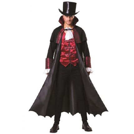 Vampire Count Halloween-Kostüm für Herren Gr. M/L