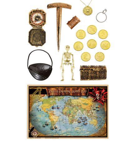 17-teiliges Luxus Piraten Zubehör – Bild 1