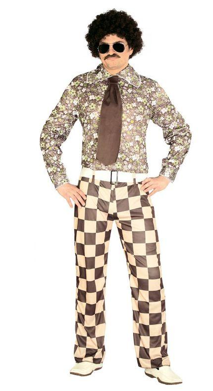 60er 70er Jahre Brady Retro Herren Disco Kostüm – Bild 1