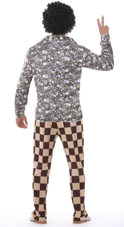 60er 70er Jahre Brady Retro Herren Disco Kostüm – Bild 2