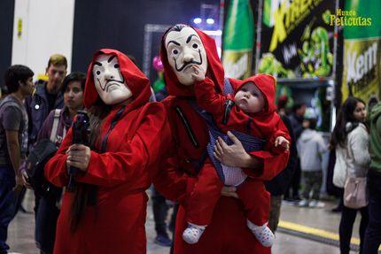 Haus des Geldes Unisex Bankräuber Kostüm Overall und Dali Maske – Bild 8