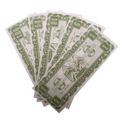 75 Dollar Scheine Spielgeld – Bild 2