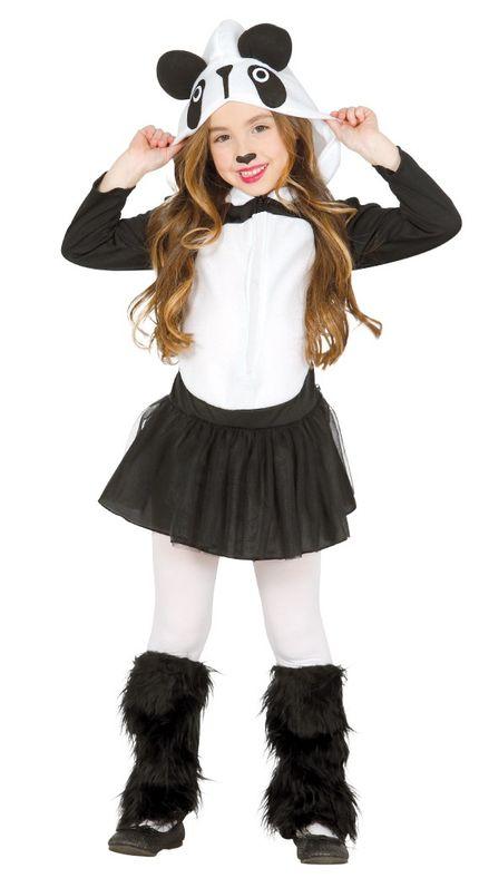 Panda Mädchen Kostüm Pandabär Kleid – Bild 1
