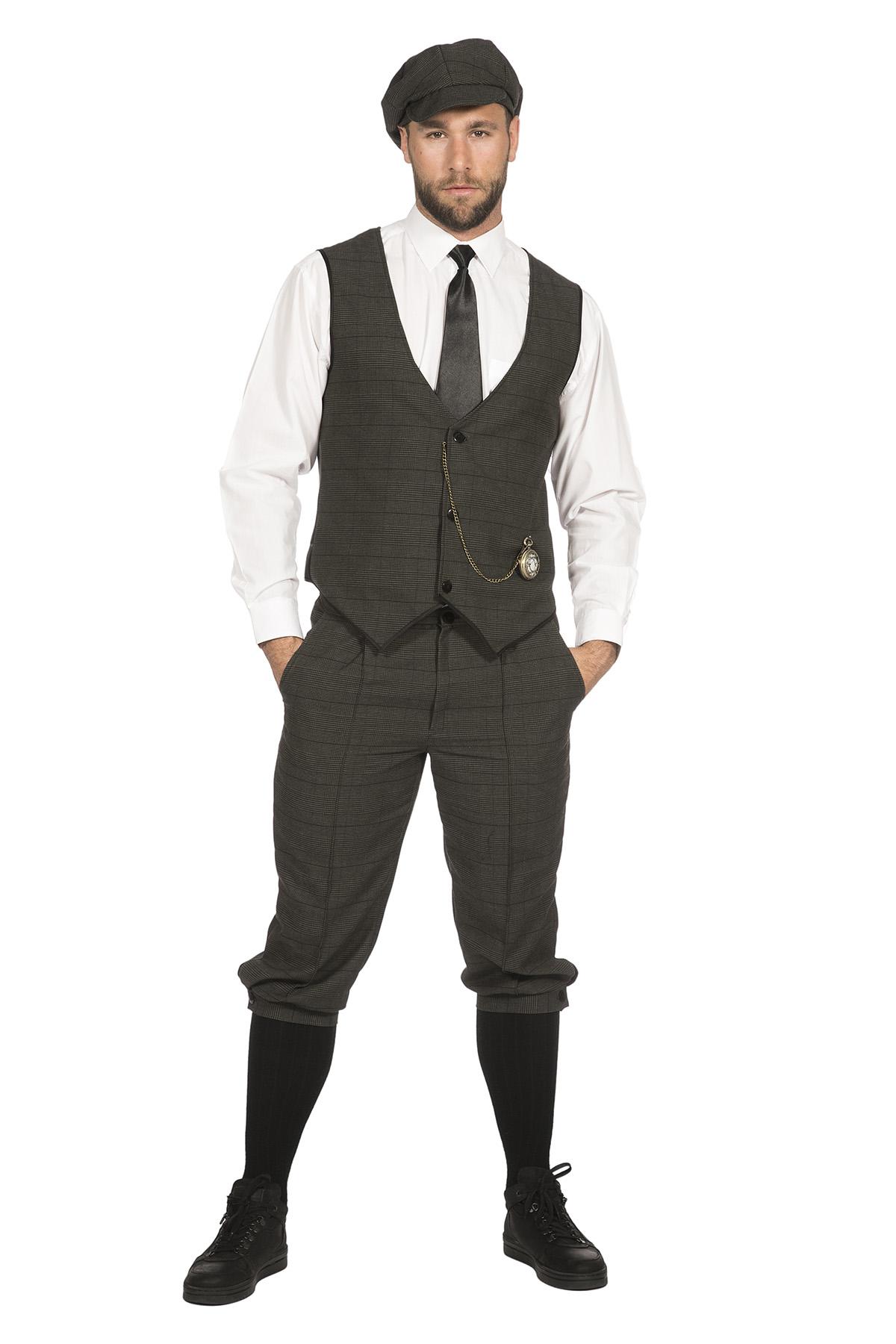 20er Jahre Peaky Blinders Anzug Knickerbocker Herren Kostüm Oliv
