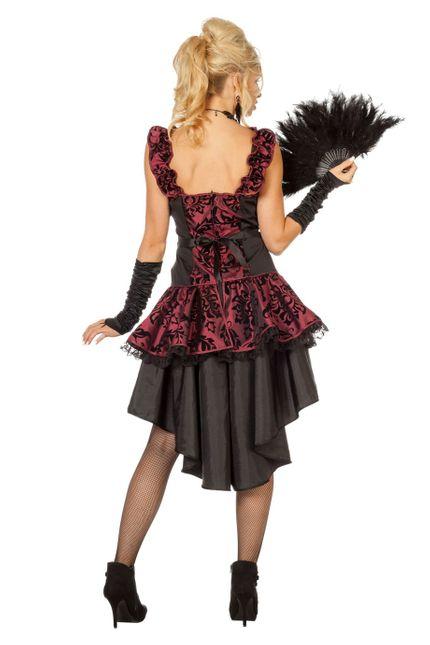 Burlesque Saloon Can Can Damen Kostüm – Bild 2