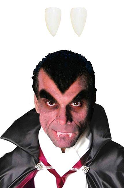 2 aufsteckbare Vampir Zähne mit Kleber Special FX – Bild 1