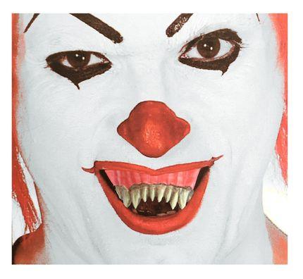 Spitze Horror Monster Zähne mit Belag inklusive Thermoplast-Masse – Bild 2