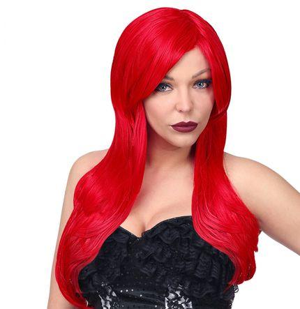 Deluxe Dream Hair Damen Langhaar Perücke Rot hitzebeständig Alicia Cosplay – Bild 1
