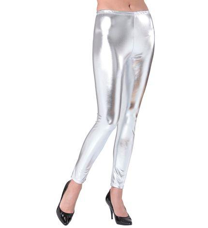 Metallic Damen Leggings glänzend – Bild 2