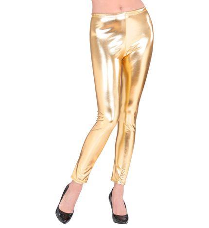 Metallic Damen Leggings glänzend – Bild 3