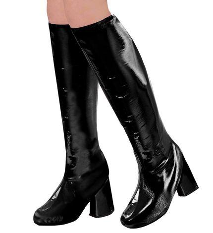 60er 70er Lack Damen Stiefel Überzieher Stulpen glänzend – Bild 3