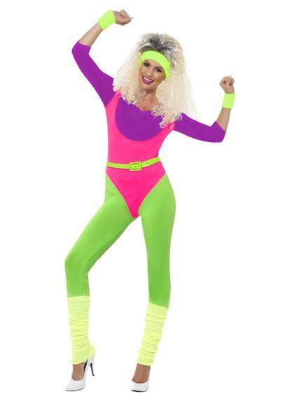Aerobic Sport Body Mama der 80er Jahre Sportkostüm Bad Taste Sportbody Fitness
