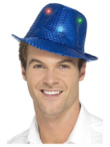 Pailletten Trilby Hut mit LED Beleuchtung – Bild 3