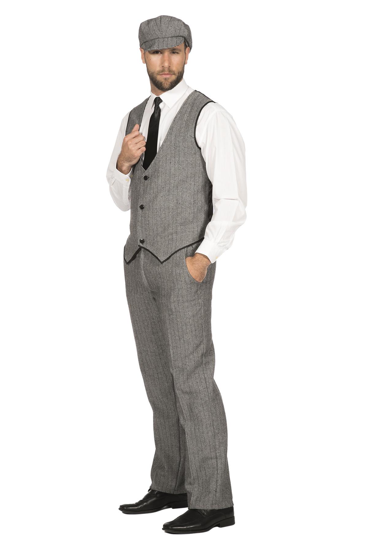 20er Jahre Peaky Blinders Anzug Schwarz-Weiß LANGE HOSE