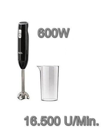 AEG Stabmixer Pürierstab Smoothie Becher Zerkleinerer 600W Edelstahl 16500 U/min