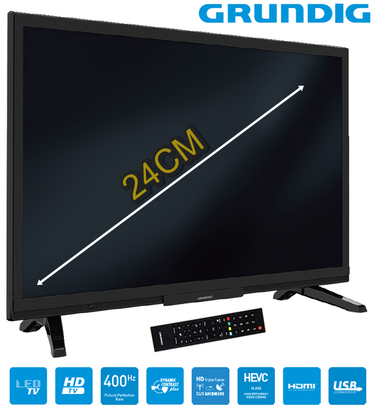 grundig fernseher 24 zoll triple tuner backlight hdmi hd. Black Bedroom Furniture Sets. Home Design Ideas