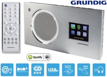 Grundig Cosmopolit 9 WEB DAB+ Internet Tisch Radio Silber Farbdisplay Spotify **