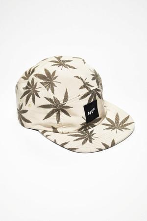 HUF - JACQUARD PLANTLIFE VOLLEY CAP - KHAKI