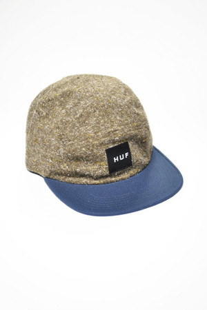 HUF - BRUSHED TWEED VOLLEY CAP - BROWN