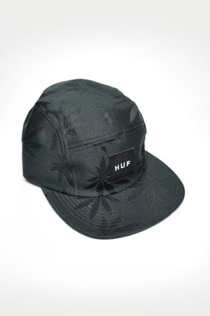 HUF - PLANTLIFE VOLLEY CAP - BLACK
