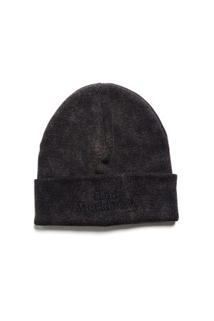 HUF - WORLDWIDE OVERDYED BEANIE - BLACK