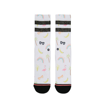 STANCE - FOUNDATION WOMEN LAINE CLASSIC CREW - WHITE