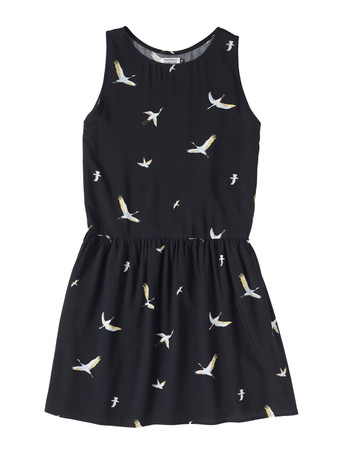 CLEPTOMANICX - WOMEN KNITTED DRESS EASY - BIRD ALLOVER