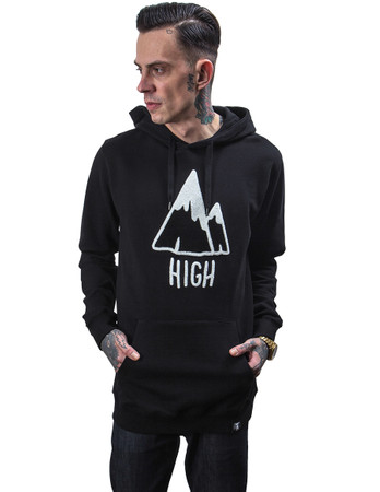 THE DUDES - HIGH HOODY - BLACK