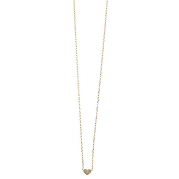TIMI - SMALL SLIDING HEART NECKLACE - GOLD