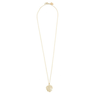 TIMI - MONSTERA NECKLACE - GOLD