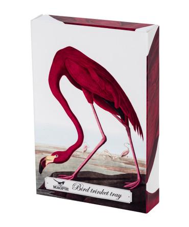 MAGPIE - BIRDS - TRINKET TRAY - FLAMINGO